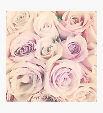 Mothers Day Present - Rose Blush Pastel Gift Photographic Print