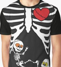 Skeleton Baby Twins,Skull Baby Twins Graphic T-Shirt
