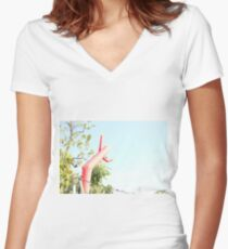 Wacky Wavy Inflatable Antics Women's Fitted V-Neck T-Shirt