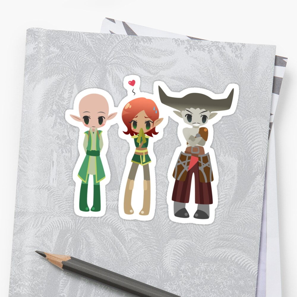 Dragon Age - Solas, Inquisitor, Iron Bull [Commission] by chocominto