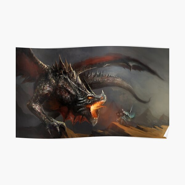 Dragon and Knight Poster