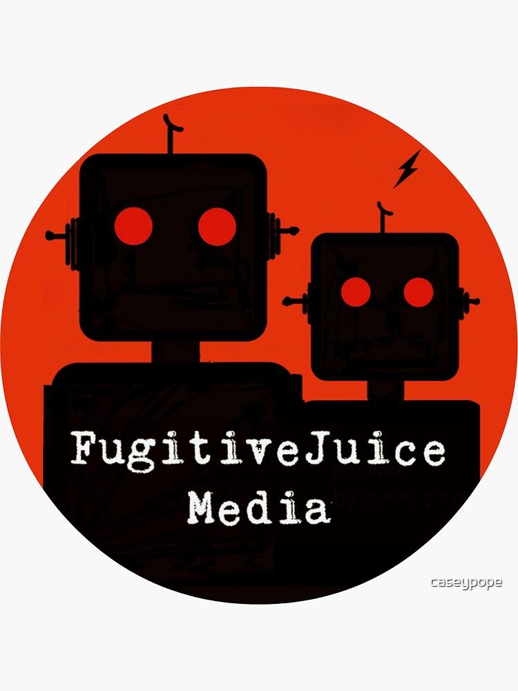 Robot Logo - FugitiveJuice Media by caseypope