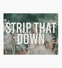 Strip That Down + Flowers Photographic Print