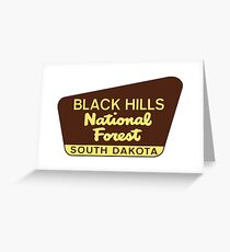 Black Hills National Forest South Dakota Hiking Camping Climbing Park Greeting Card