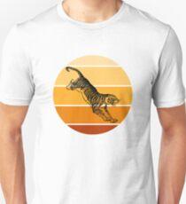 Leaping Tiger Orange Circle Color Scheme Unisex T-Shirt