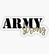 Army Strong - Black/Gold Sticker
