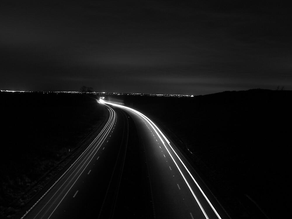 Light trails (B&W) by owenbaker