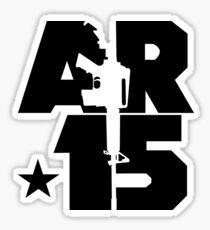AR-15 (Black) Sticker