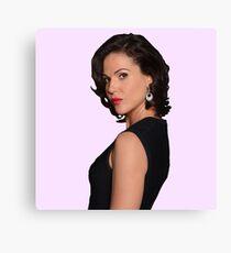 Lana Parrilla Pink Background Canvas Print