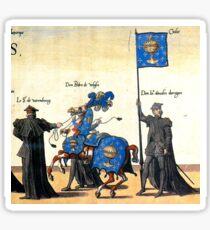 Galice representation in Charles V illustration Sticker