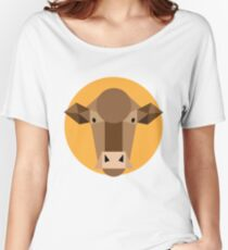 Go Cows!! Geometric Cow Women's Relaxed Fit T-Shirt