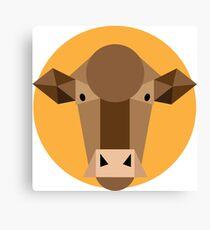 Go Cows!! Geometric Cow Canvas Print