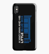 a Mad Man and his Little Blue Box iPhone Case/Skin