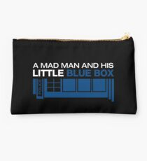 a Mad Man and his Little Blue Box Studio Pouch