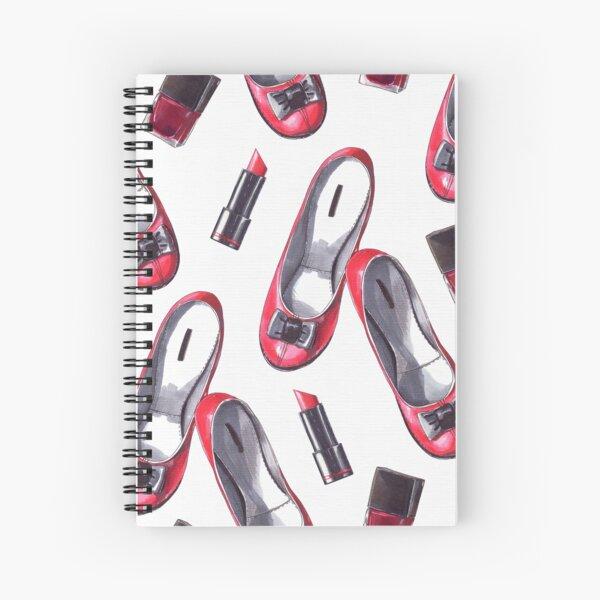 Red, white, black. Spiral Notebook