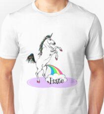 Unicorn Go Wee Wee On Hate With Rainbow Unisex T-Shirt