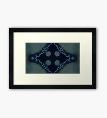 Surreal | Modern | Tye dye | Abstract | Midnight Blue Framed Print