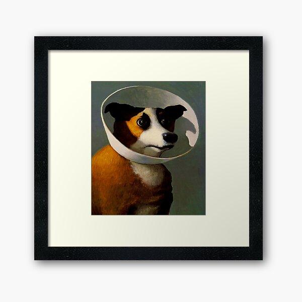 Orejeras de perro  Framed Art Print