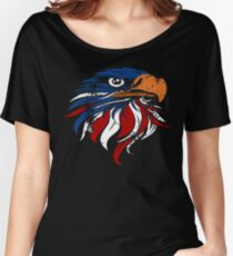 American Bald Eagle Flag Women's Relaxed Fit T-Shirt
