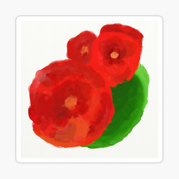Grandma's Poppies Sticker