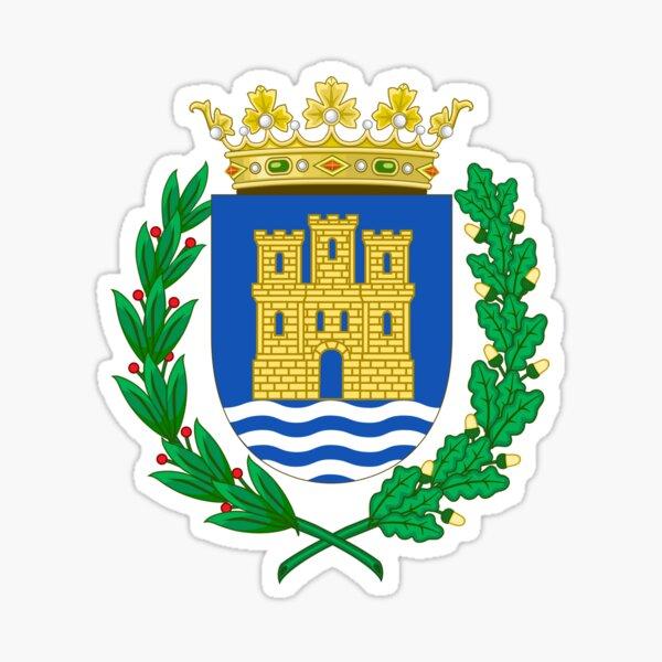 Escudo de armas de Alcalá de Henares, España Pegatina