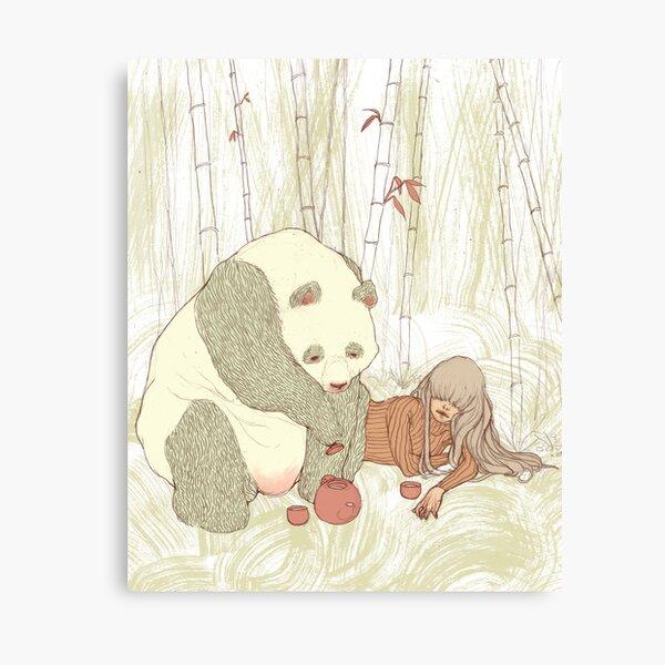 Panda Tea Party Canvas Print