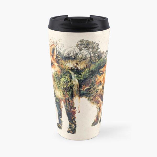 The Fox my original surreal nature art Travel Mug