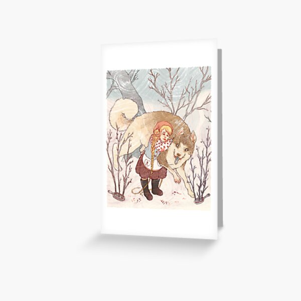 The Little Snow Girl Greeting Card
