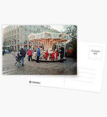 Roundabout at Christmas at Gustav Adolfs torg Postcards