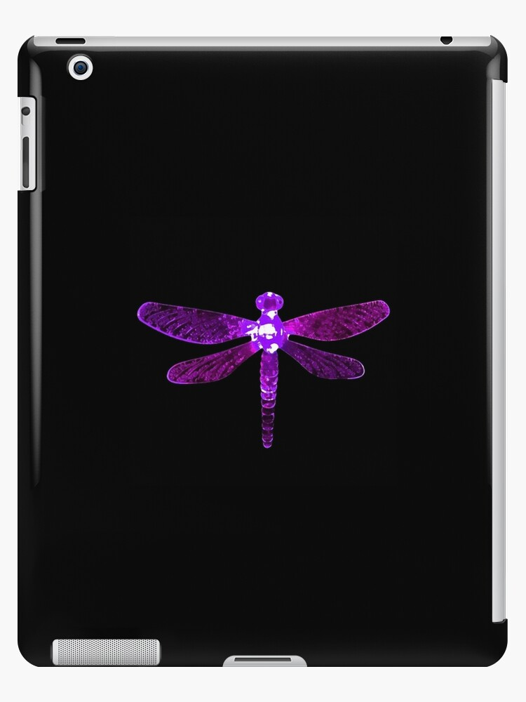 'Purple Dragonfly' iPad Case/Skin