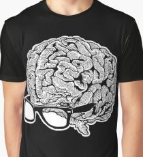 Brain with Glasses Graphic T-Shirt