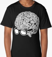 Brain with Glasses Long T-Shirt