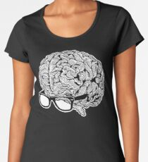 Brain with Glasses Women's Premium T-Shirt