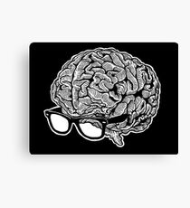 Brain with Glasses Canvas Print