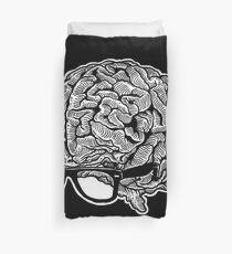 Brain with Glasses Duvet Cover