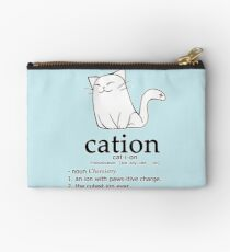 Cat-ion science puns Studio Pouch