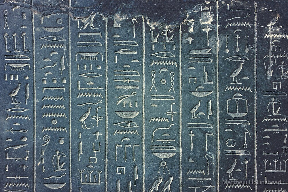 Hieroglyphs by Matthew Hollinshead