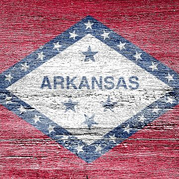Arkansas Flag by strippedTees