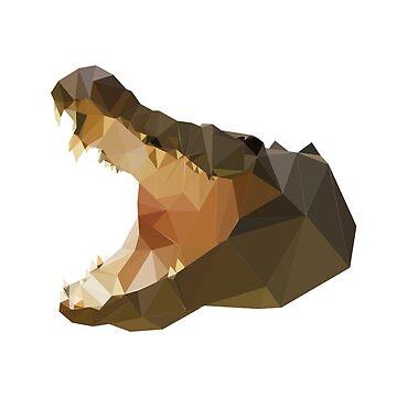 polygon crocodile by Nadinosaur8