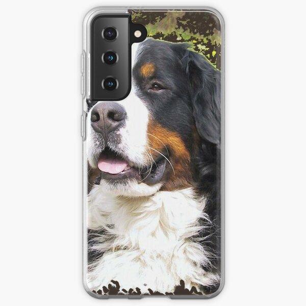 Bernese mountain dog portrait Samsung Galaxy Soft Case