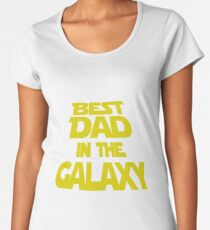 Mens T-shirt Best Dad In The Galaxy.  Father's Day Holiday or Gift Unisex T-Shirt Women's Premium T-Shirt