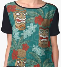 Tiki Hawaii  Women's Chiffon Top