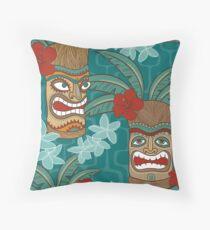 Tiki Hawaii  Throw Pillow