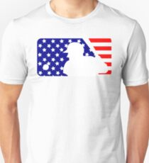 MLB Logo - Stars and Stripes Unisex T-Shirt