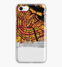 Amsterdam, Netherlands, Skyline Map iPhone Case/Skin