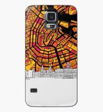 Amsterdam, Netherlands, Skyline Map Case/Skin for Samsung Galaxy