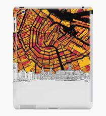 Amsterdam, Netherlands, Skyline Map iPad Case/Skin