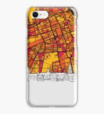 Warsaw, Poland, Skyline Map iPhone Case/Skin