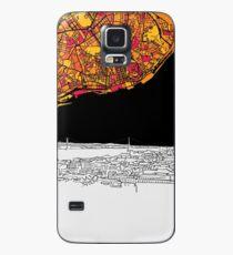Lisbon, Portugal, Skyline Map Case/Skin for Samsung Galaxy