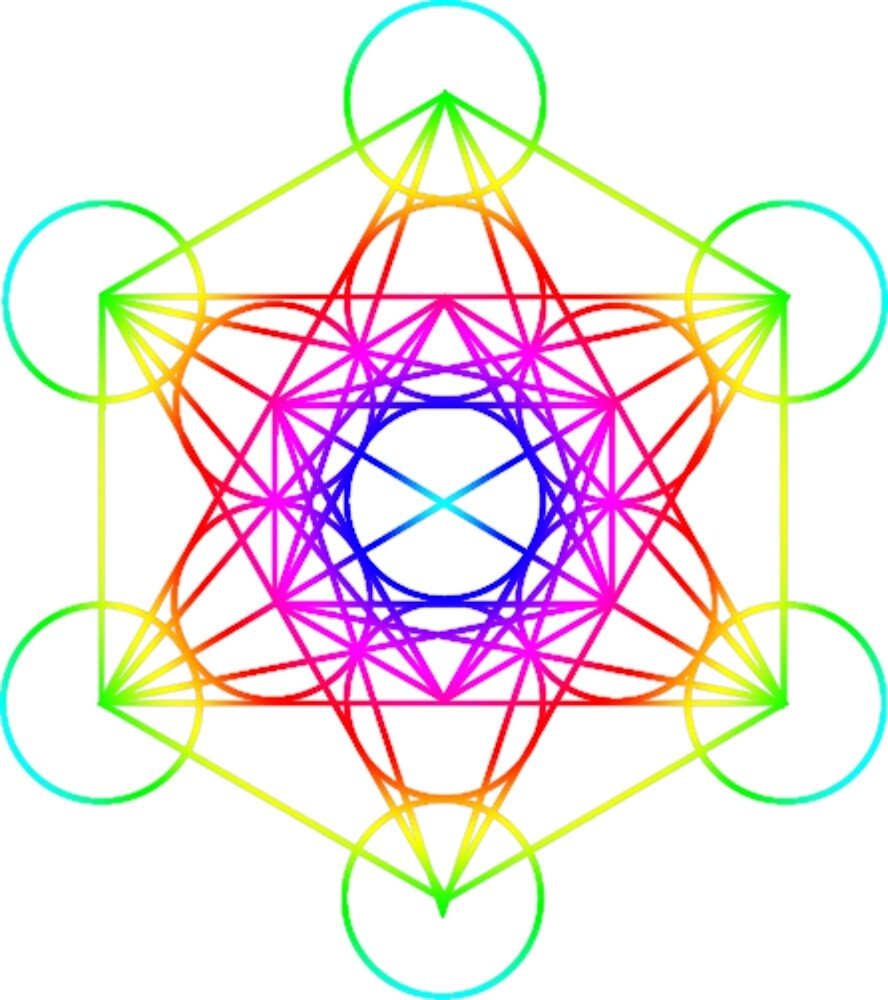 4359e1b6b96e Rainbow Metatron's Cube Sacred Geometry